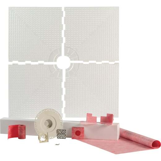 PROVA SHOWER System Kit 48 In. x 48 In. Center Drain with Curb