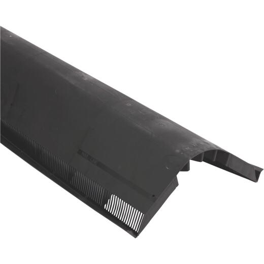 VenturiVent Plus 48 In. Black Shingle-Over Ridge Vent