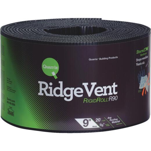Quarrix 9 In. x 20 Ft. Shingle-Over Rolled Ridge Vent