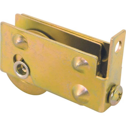 Prime-Line 1-1/8 Dia. x 7/16 In. W. x 2-1/8 In. L. Steel Ball Bearing Patio Door Roller with Adjustable Housing Assembly