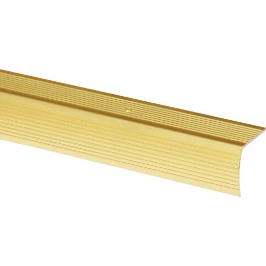 Do it Satin Gold 1-1/8 In. W x 36 In. L Aluminum Stairnose