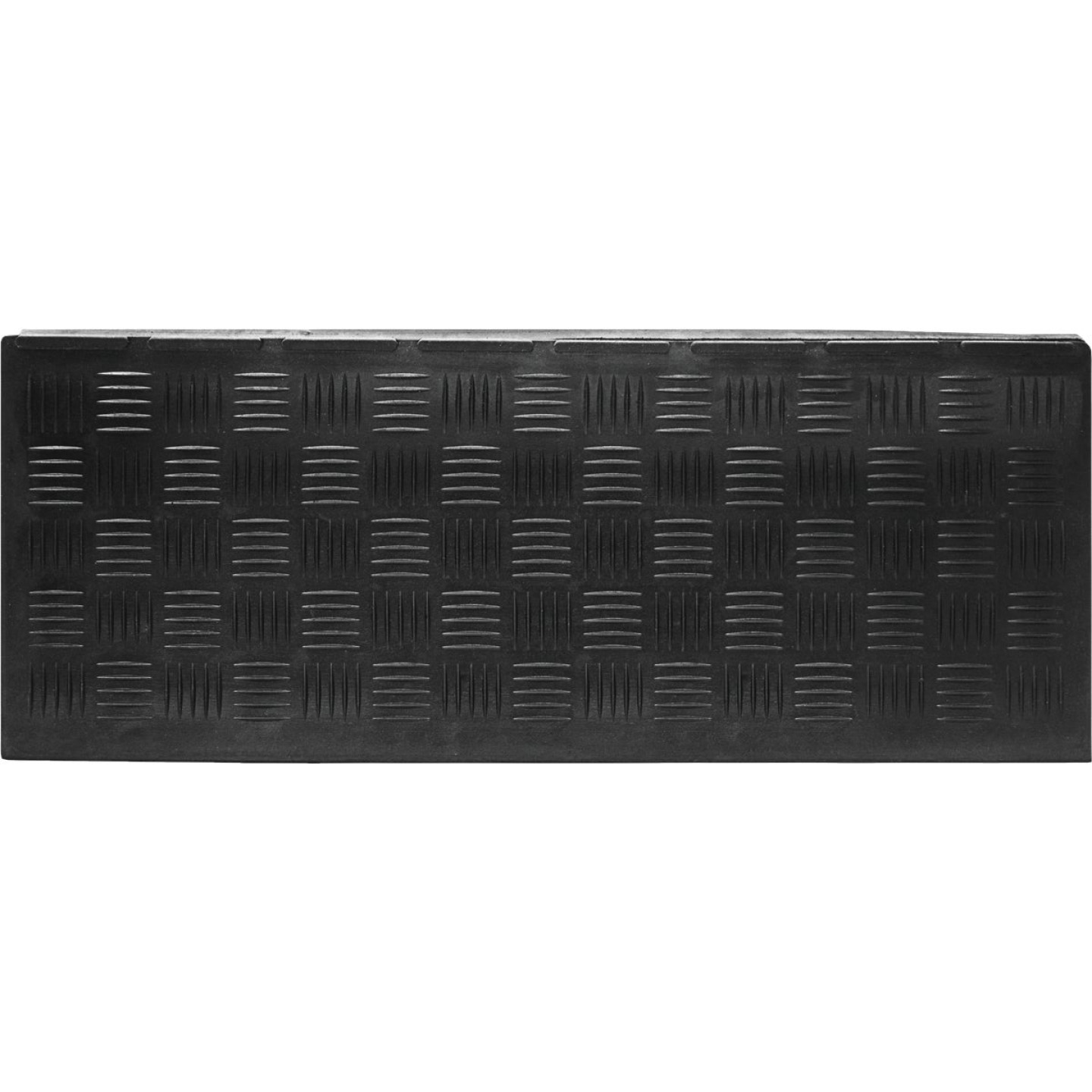 Multy Home Black 9 In. x 24 In. Rubber Stair Tread Image 1