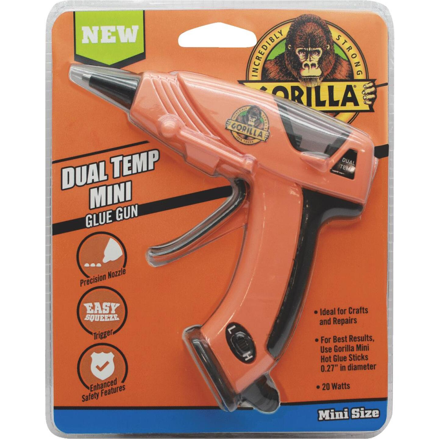 Gorilla Dual-Temperature Mini Glue Gun Image 1