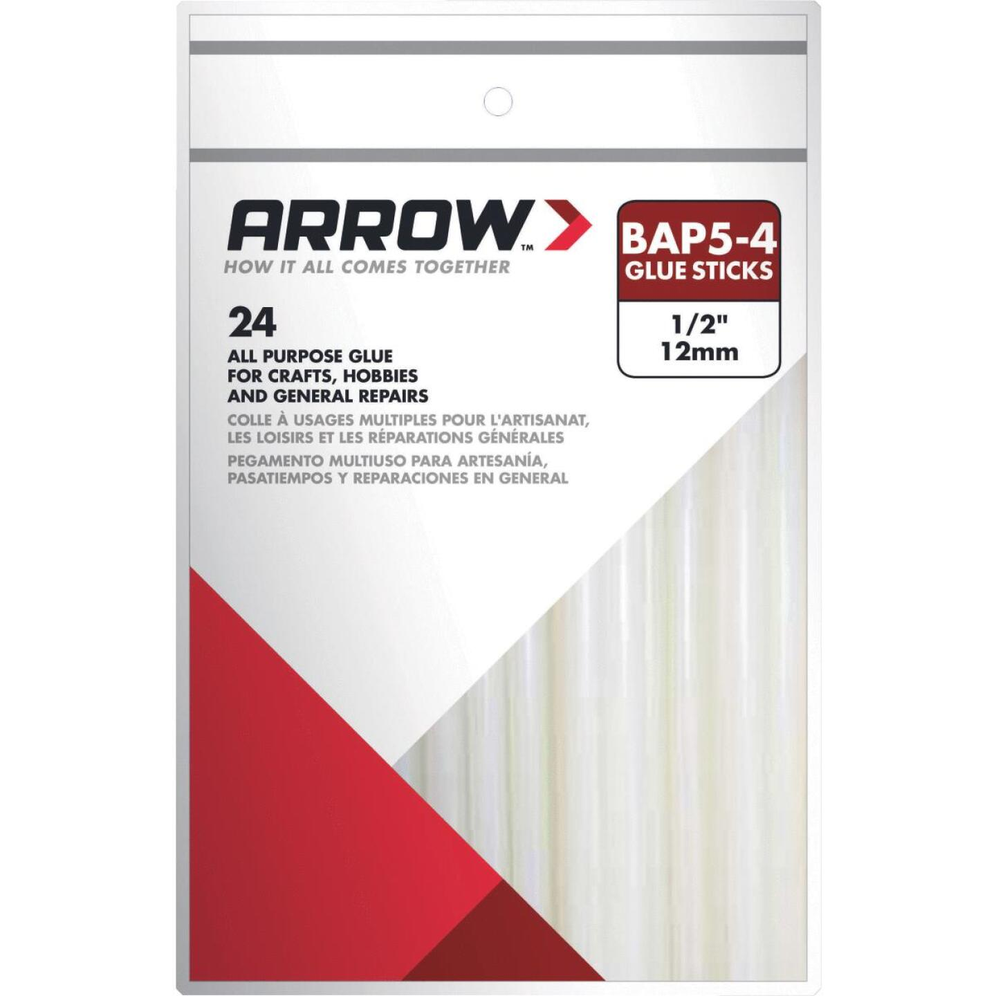 Arrow 4 In. Standard Clear Hot Melt Glue (24-Pack) Image 1