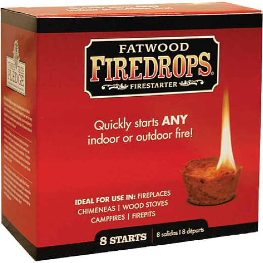 Fatwood Firedrops Fire Starter (8-Pack)