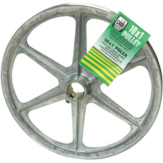 Dial 10 In. x 1 In. Blower Pulley with Keyway