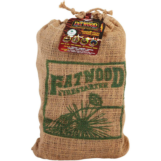 Fatwood 8 Lb. Fire Starter in Burlap Bag