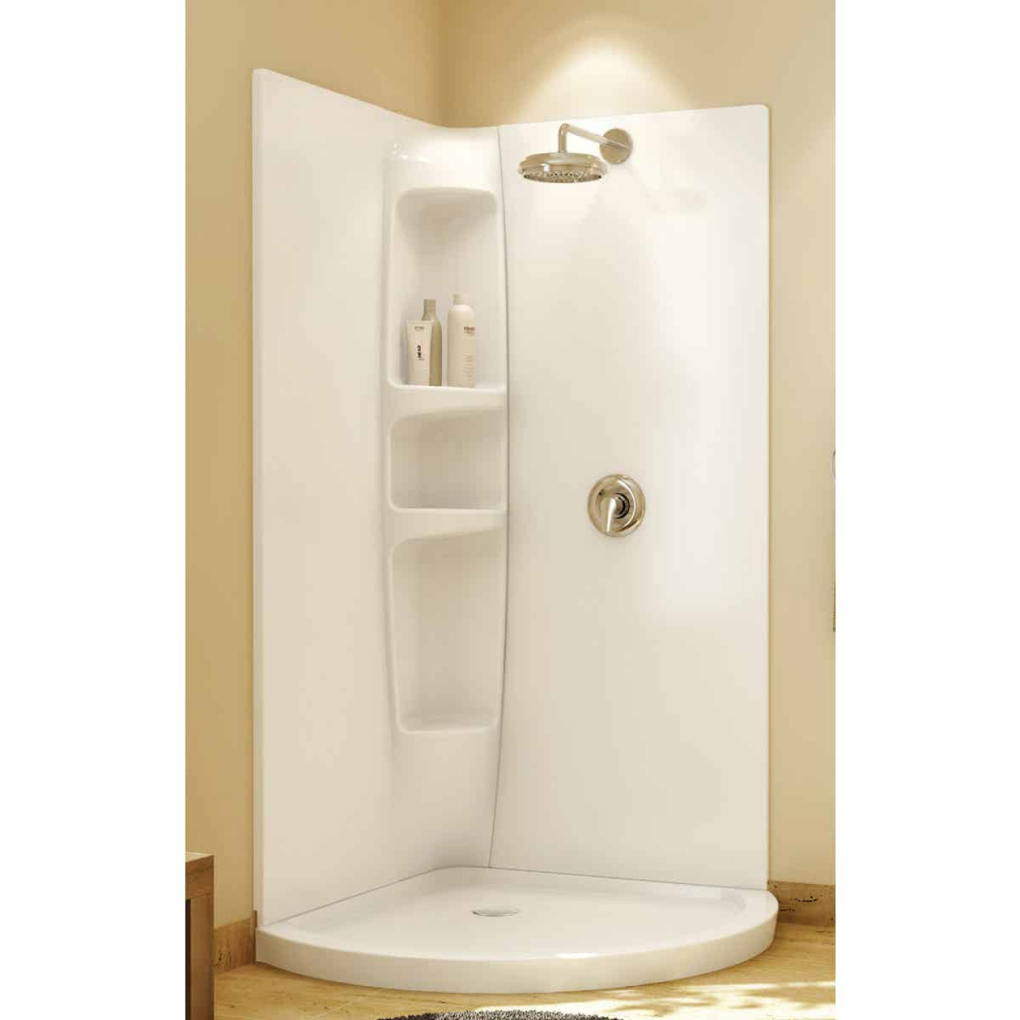 Maax Olympia 2-Piece 36 In. W x 77 In. H x 36 In. D Shower Wall Set in White Image 1