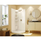 Maax Olympia 2-Piece 36 In. W x 77 In. H x 36 In. D Shower Wall Set in White Image 2