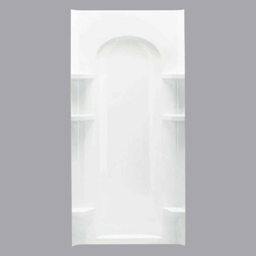 Sterling 36 In. W x 72-1/2 In. H White Vikrell Curved Shower Back Wall