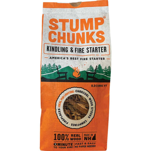 Stump Chunks 0.3 Cu. Ft. Kindling and Fire Starter