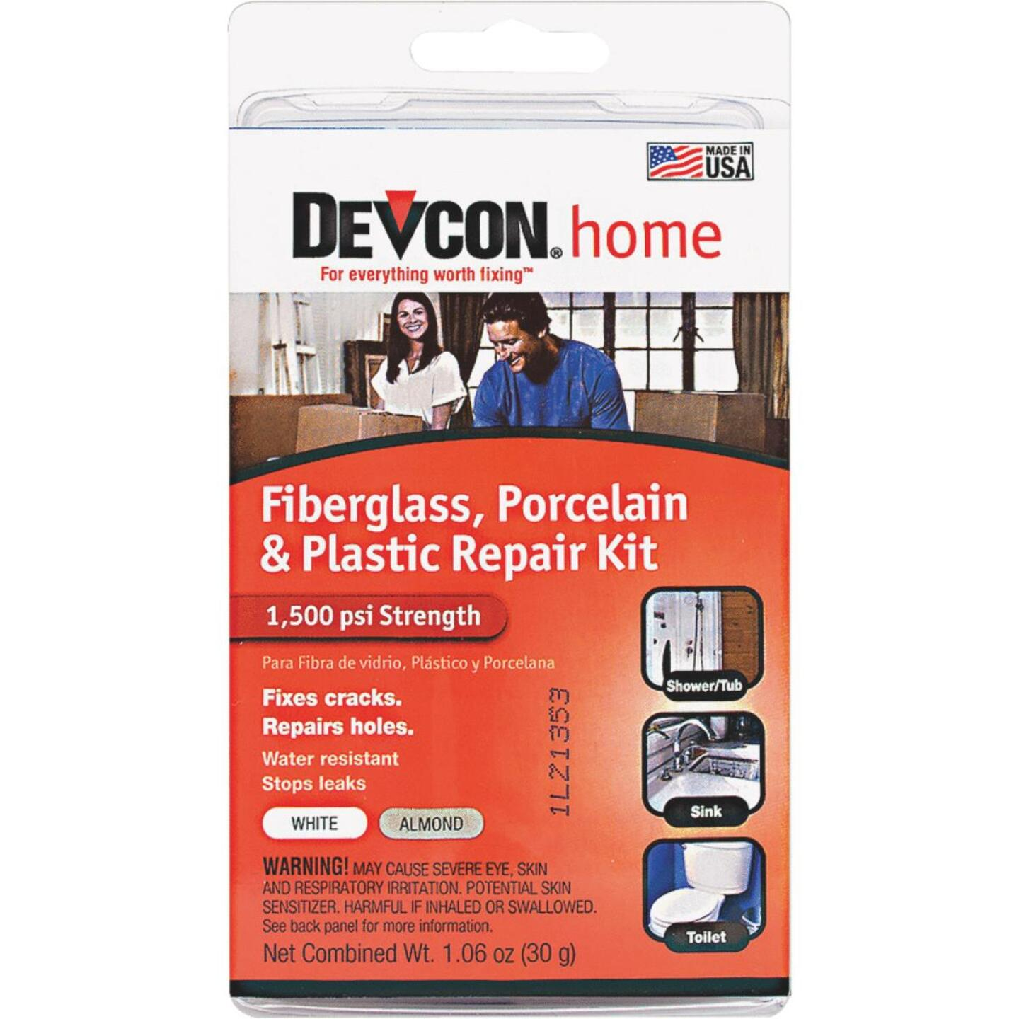 Devcon 1.06 Oz. Fiberglass, Porcelain & Plastic Epoxy Repair Kit Image 1