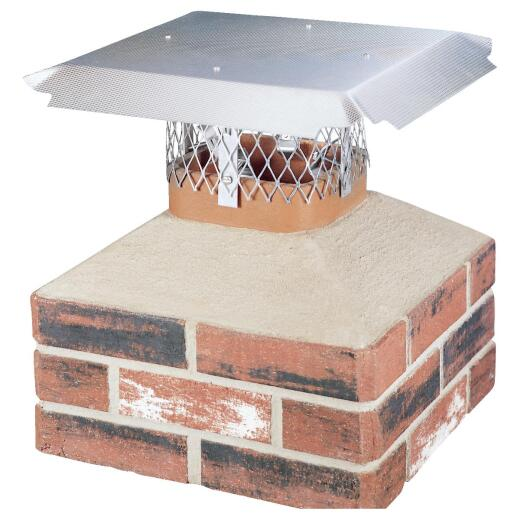HY-C DuroShield Multi-Fit Aluminum Chimney Cap for Large Flue