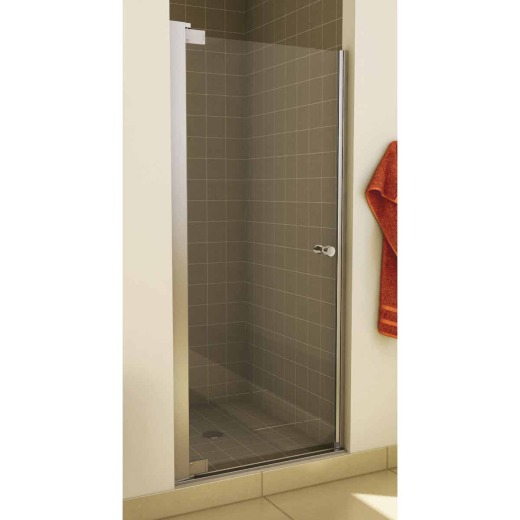 Maax Madono 36.5 In. W. X 67 In. H. Chrome Clear Glass Pivot Shower Door