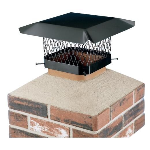 Shelter 13 In. x 13 In. Black Galvanized Steel Chimney Cap