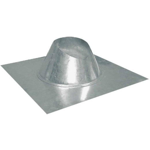 Imperial 6 In. Galvanized Rainproof Roof Pipe Flashing