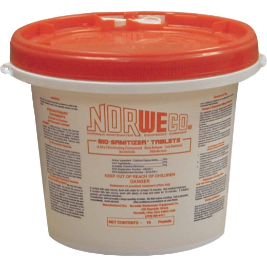 Norweco Disinfecting Tablet 10 Lb. Sewer Line Cleaner