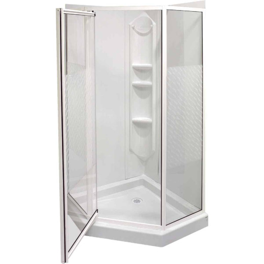 Maax 74 In. H. x 38 In. D. x 38 In. L. White Polystyrene Shower Stall