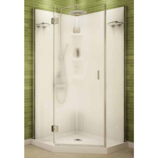 Maax 36 In. W. x 72 In. H. x 36 In. D. White Polystyrene Shower Stall
