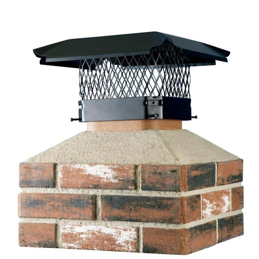 Shelter 13 In. x 18 In. Black Galvanized Steel Chimney Cap