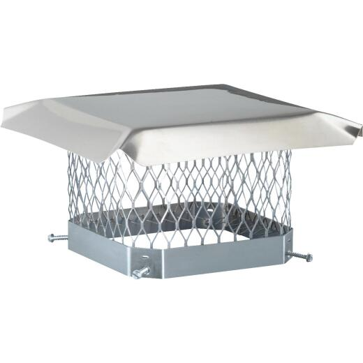Shelter 9 In. x 9 In. Stainless Steel Single Flue Chimney Cap