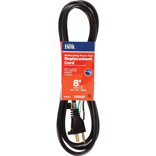 Do it Best 8 Ft. 16/3 13A Large Appliance Cord