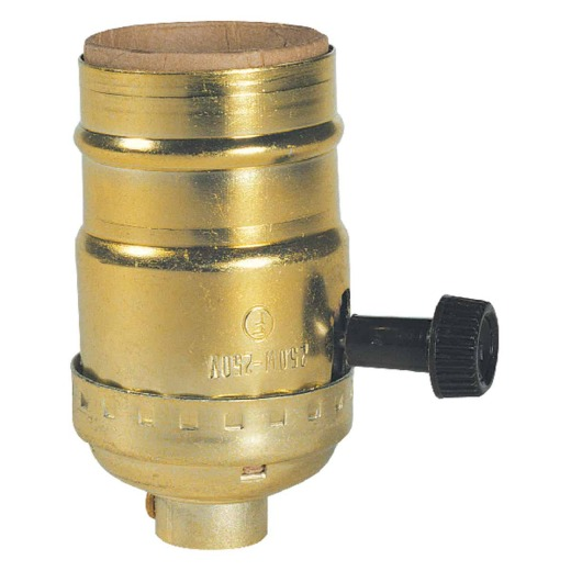 Westinghouse Turn-Knob Medium Base Brass Lamp Socket