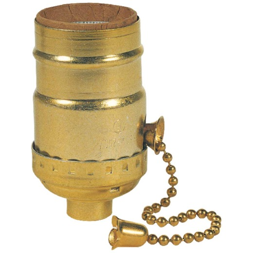 Westinghouse Pull Chain Medium Base Brass Lamp Socket