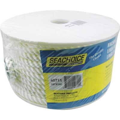 Seachoice 3/8 In. x 100 Ft. 3-Strand Twisted Nylon Anchor Line