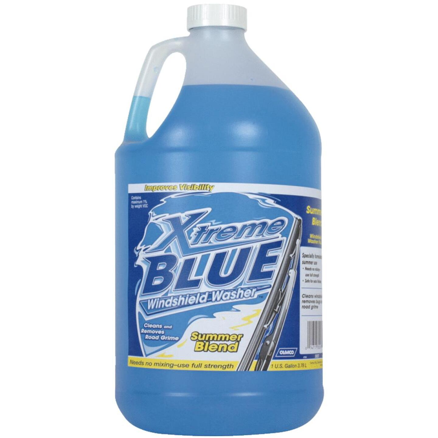 Camco Xtreme Blue 1 Gal. +32 Deg F Temperature Rating Summer Blend Windshield Washer Fluid Image 1