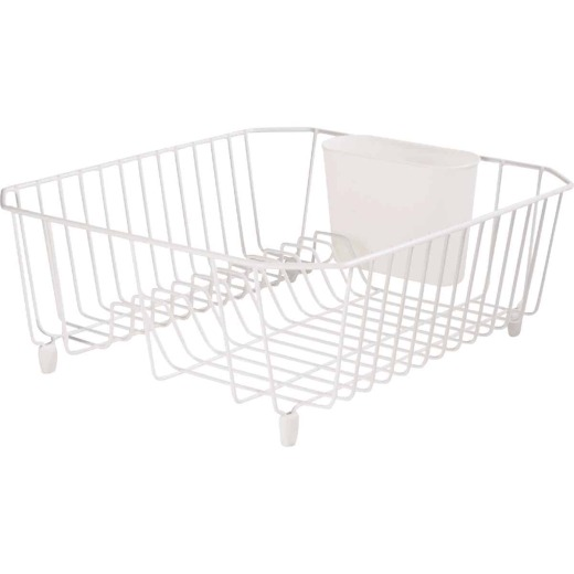 Rubbermaid 12.49 In. x 14.31 In. White Wire Sink Dish Drainer