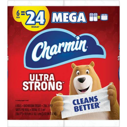 Charmin Ultra Strong Toilet Paper (6 Mega Rolls)