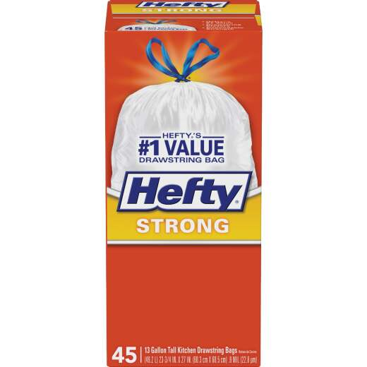 Hefty 13 Gal. Tall Kitchen White Trash Bag (45-Count)