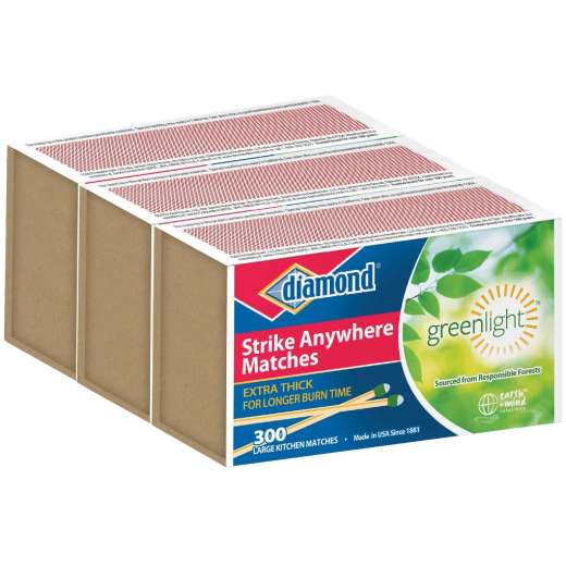 Diamond 2-3/8 In. 300-Count Strike Anywhere Kitchen Matches (3-Pack)