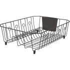 Rubbermaid 13.81 In. x 17.62 In. Black Wire Sink Dish Drainer Image 1