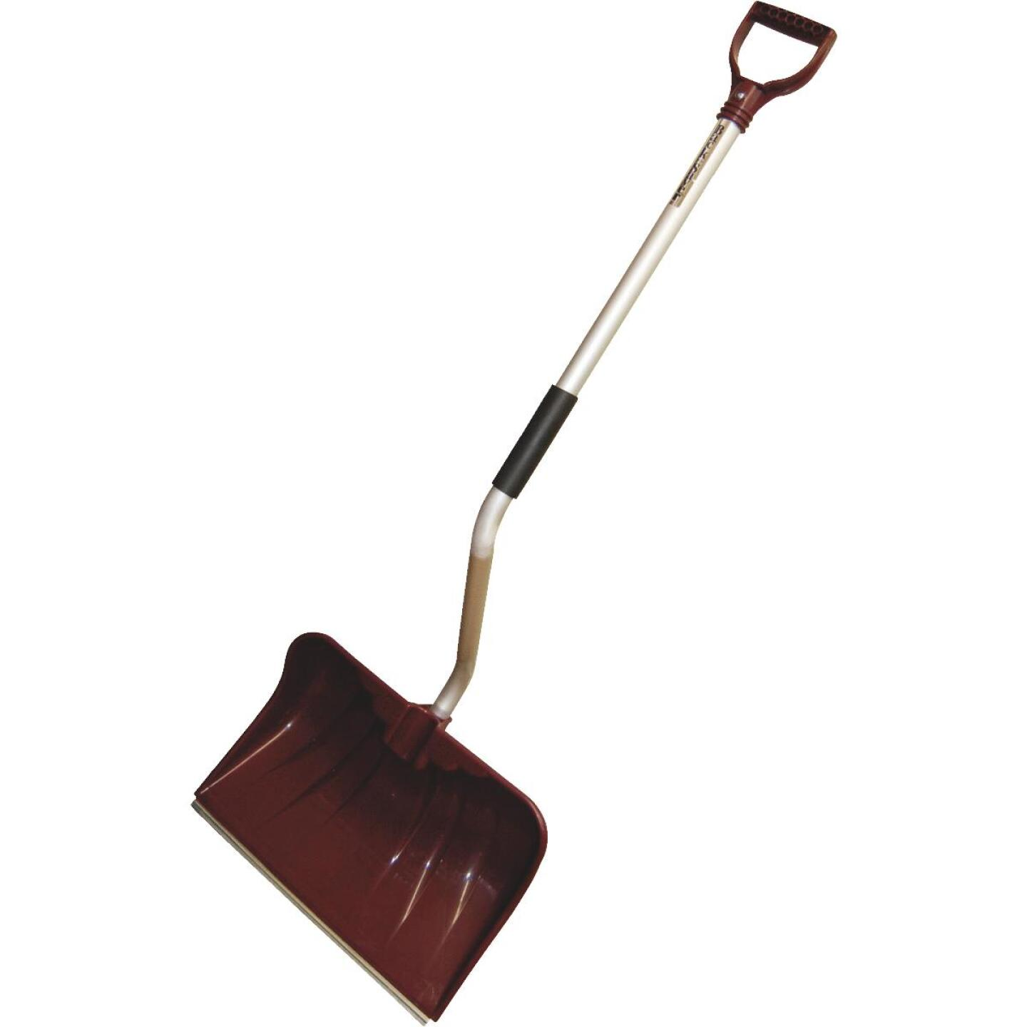 Rugg Back-Saver Lite-Wate 20 In. Poly Snow Shovel & Pusher with 42 In. Aluminum Handle Image 1