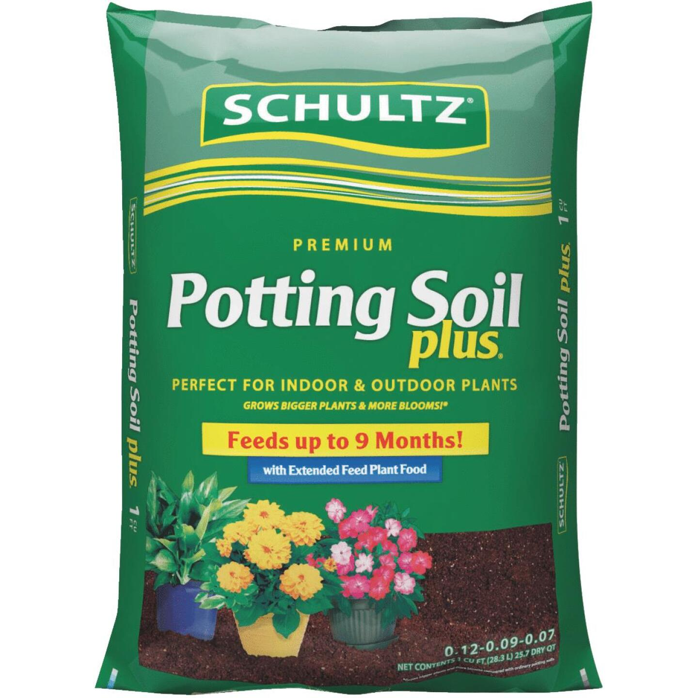 Schultz Premium  1 Cu. Ft. 23-1/2 Lb. All Purpose Indoor & Outdoor Potting Soil Image 1