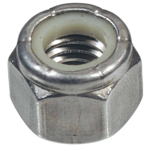 Hillman 1/2 In. 13 tpi Stainless Steel Course Thread Nylon Insert Lock Nut (25 Ct.)