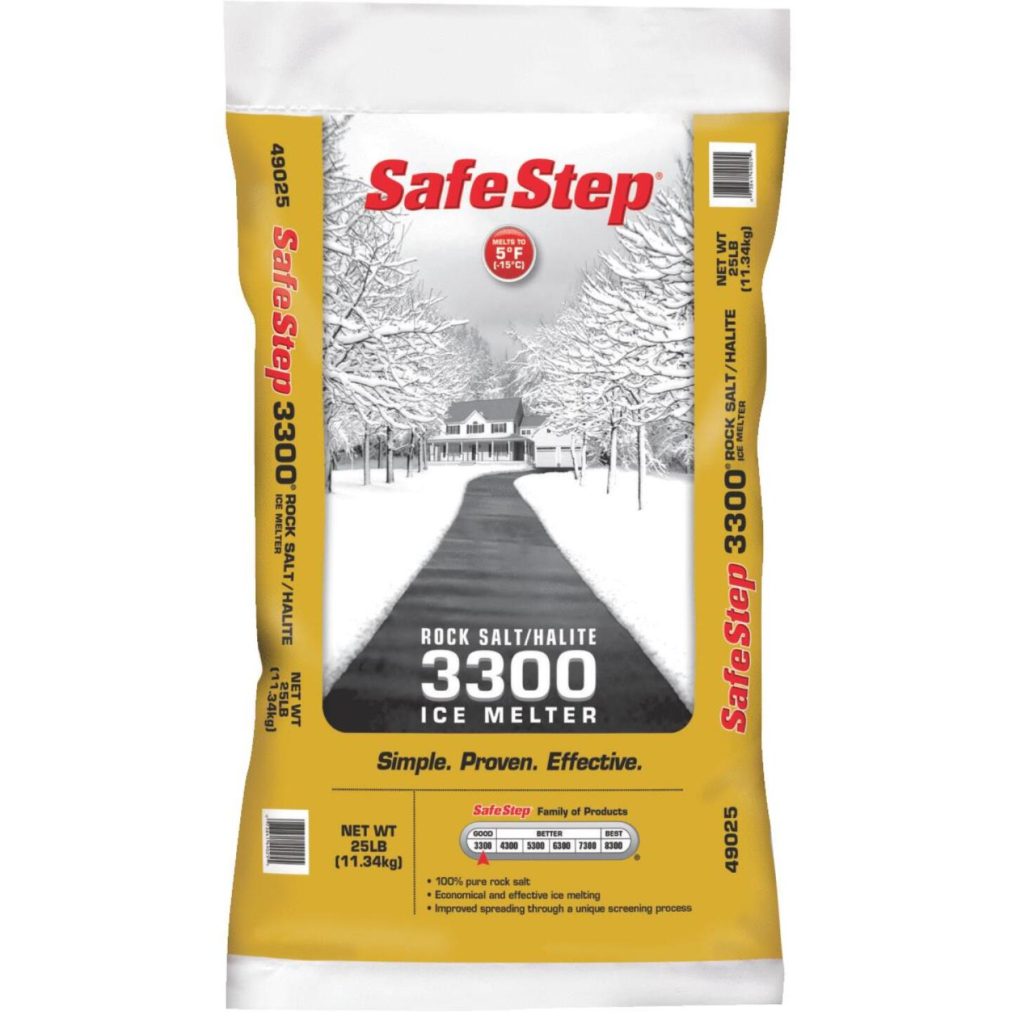 Safe Step 3300 25 Lb. Rock Salt/Halite Ice Melt Large Pellets Image 1