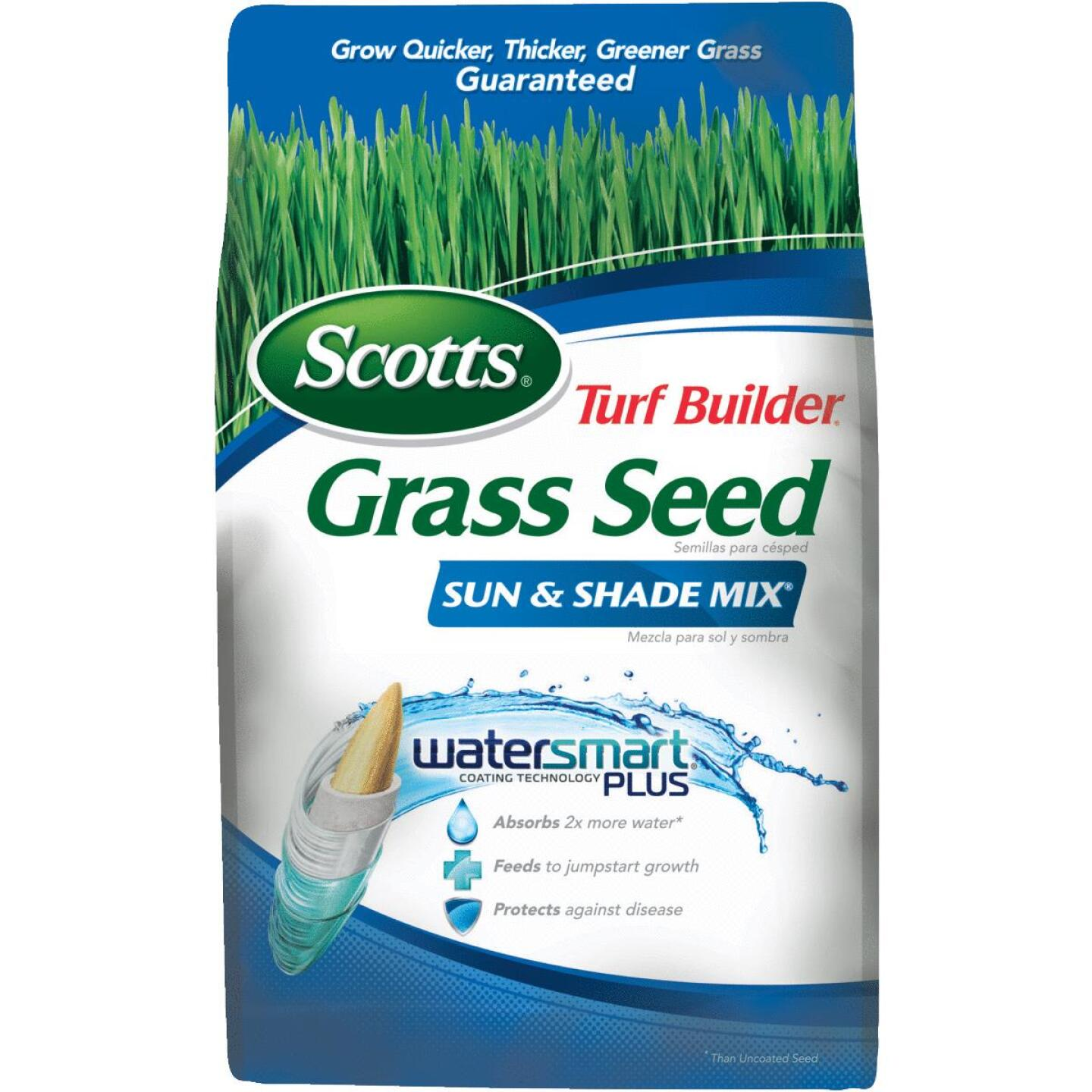 Scotts Turf Builder 7 Lb. Up To 2800 Sq. Ft. Coverage Sun & Shade Grass Seed Image 1