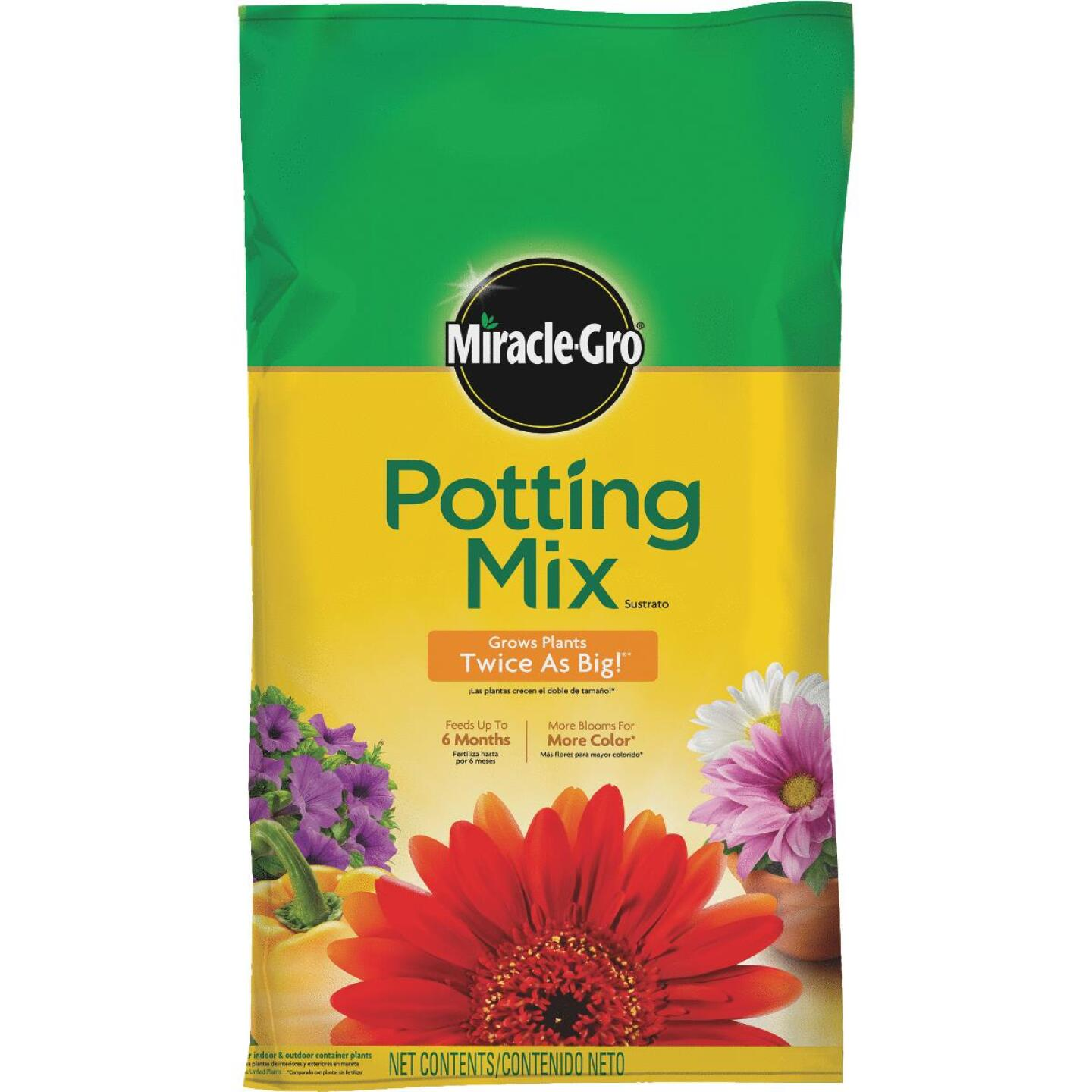 Miracle-Gro 1 Cu. Ft. 32-1/2 Lb. All Purpose Indoor & Outdoor Plants Potting Soil Image 1