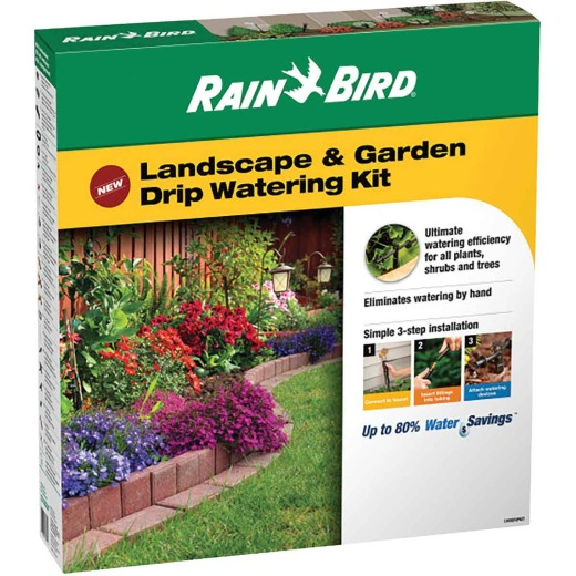 Rain Bird Landscape & Garden Drip Irrigation Watering Kit (108-Piece)