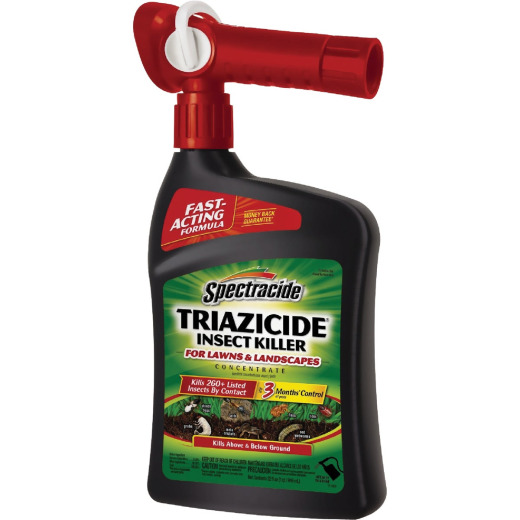 Spectracide Triazicide 32 Oz. Ready To Spray Hose End Insect Killer For Lawns & Landscapes