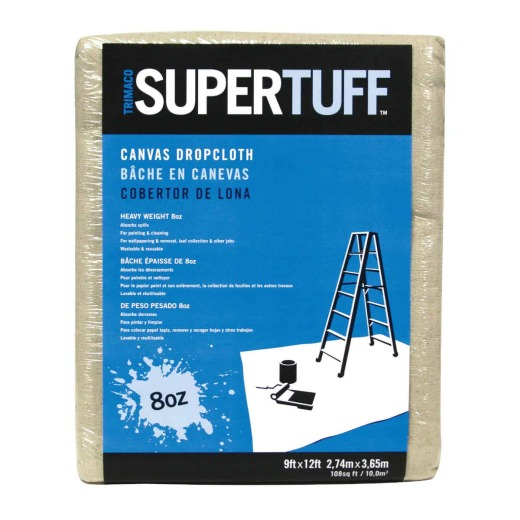 Trimaco SuperTuff Canvas 9 Ft. x 12 Ft. 8 Oz. Drop Cloth