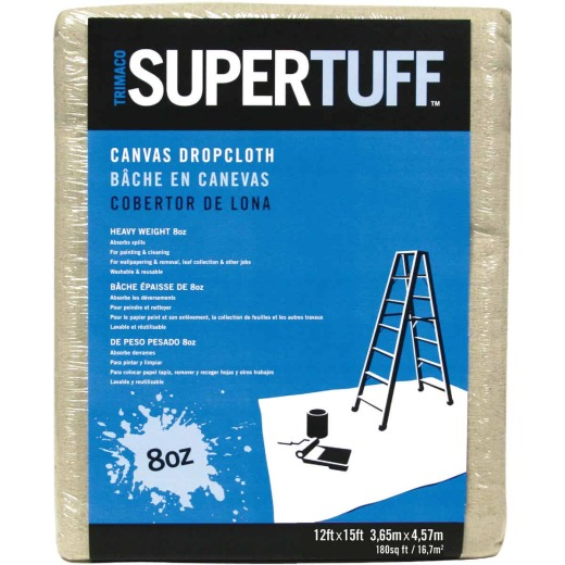 Trimaco SuperTuff Canvas 12 Ft. x 15 Ft. 8 Oz. Drop Cloth