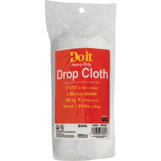 Do it Plastic 9 Ft. x 12 Ft. 2 mil Drop Cloth