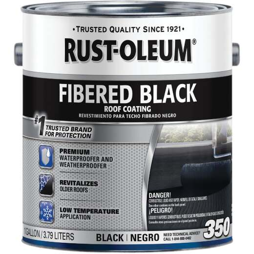 Rust-Oleum 350 1 Gal. Fibered Black Roof Coating