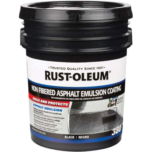 Rust-Oleum 380 5 Gal. Non-Fibered Asphalt Emulsion Coating