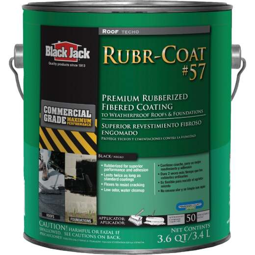 Black Jack Rubr-Coat #57 1 Gal. Premium Rubberized Fibered Coating