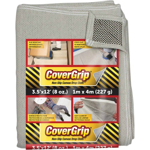 CoverGrip 3.5 Ft. x 12 Ft. 8 Oz. Non-Slip Safety Drop Cloth
